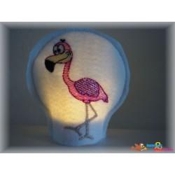 Stickdatei Flamingo Teelicht