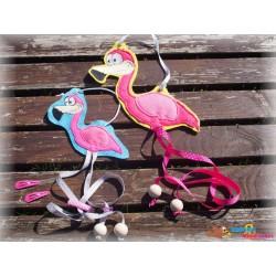 Stickdatei Flamingo Doodle...