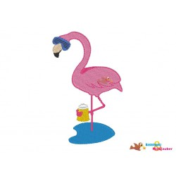 Stickdatei Flamingo Bier...