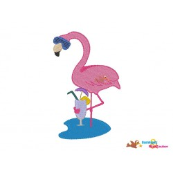 Stickdatei Flamingo...