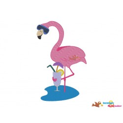 Set Flamingo Cocktail 10x10...