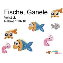 Stickdatei Meer Fische,...