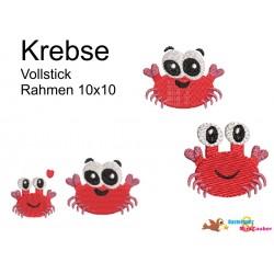 Stickdatei Meer Krebse...