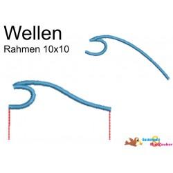 Stickdatei Meer Wellen 10x10