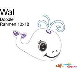 Stickdatei Meer Wal Doodle...