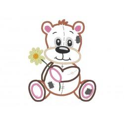 Teddybär Applikation 13x18