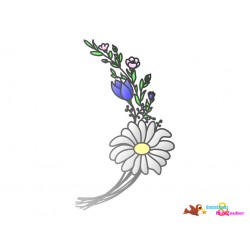 Plotterdatei Blumenstrauß
