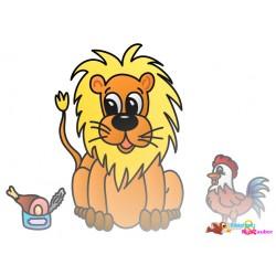 Plotterdatei Löwe und Hahn