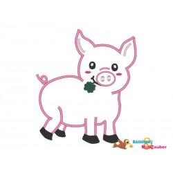 Schwein Applikation 13x18