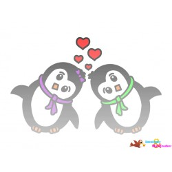 Digistamp Set - Pinguin Paare