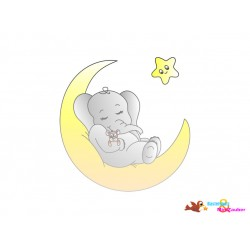 Plotterdatei Elefant im Mond