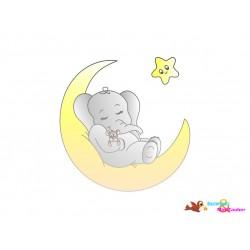 DigiStamp Elefant im Mond