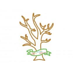 Stickdatei Baum Applikation...