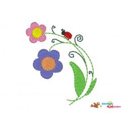 Stickdatei Mini - Blume mit...