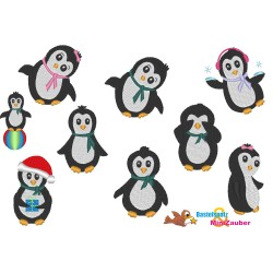 Stickdatei Mini - Pinguine