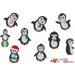 Stickdatei Set - Pinguine...