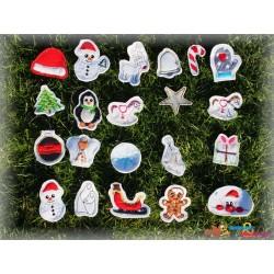 Set Weihnachtsanhänger 10x10