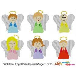 Stickdateien Engel 13x18