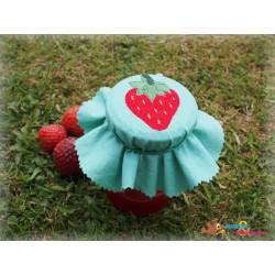 Stickdateien Erdbeere Mini